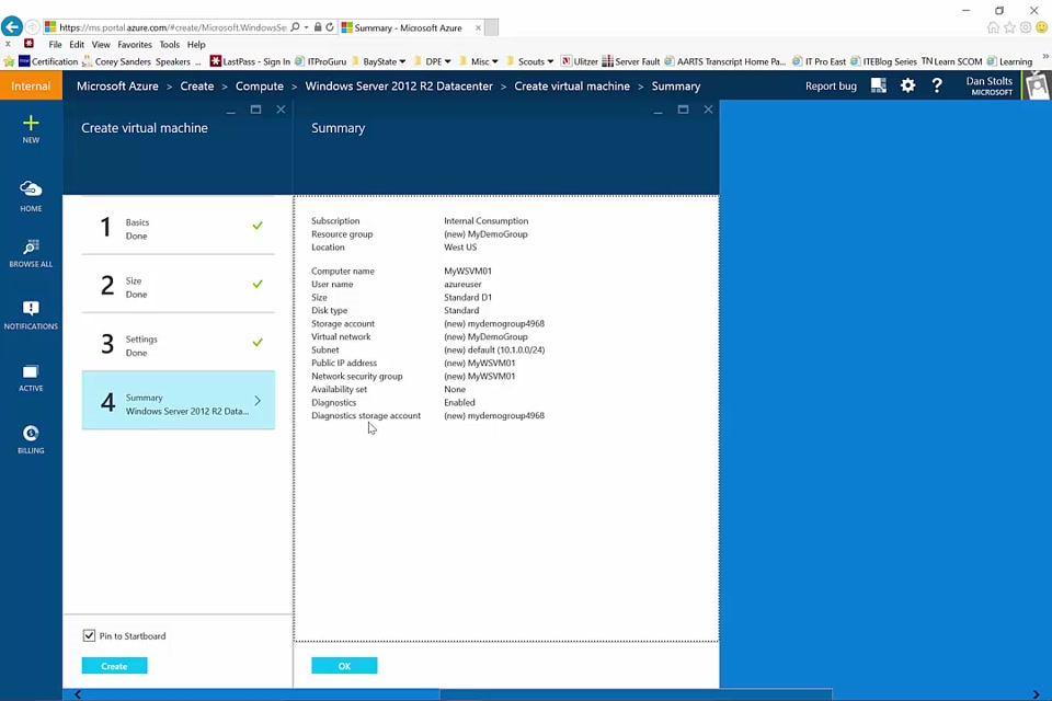 Microsoft Azure virtual machine